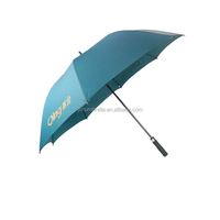 hottest selling automatic fiber solid color golf straight umbrella
