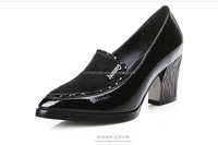 new design leather high heel ladies cheap price wholesale office footwear dress shoes for women