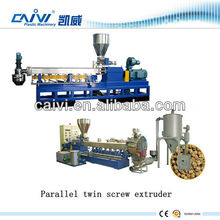 plastic PET bottle flake parallel twin screw extruder