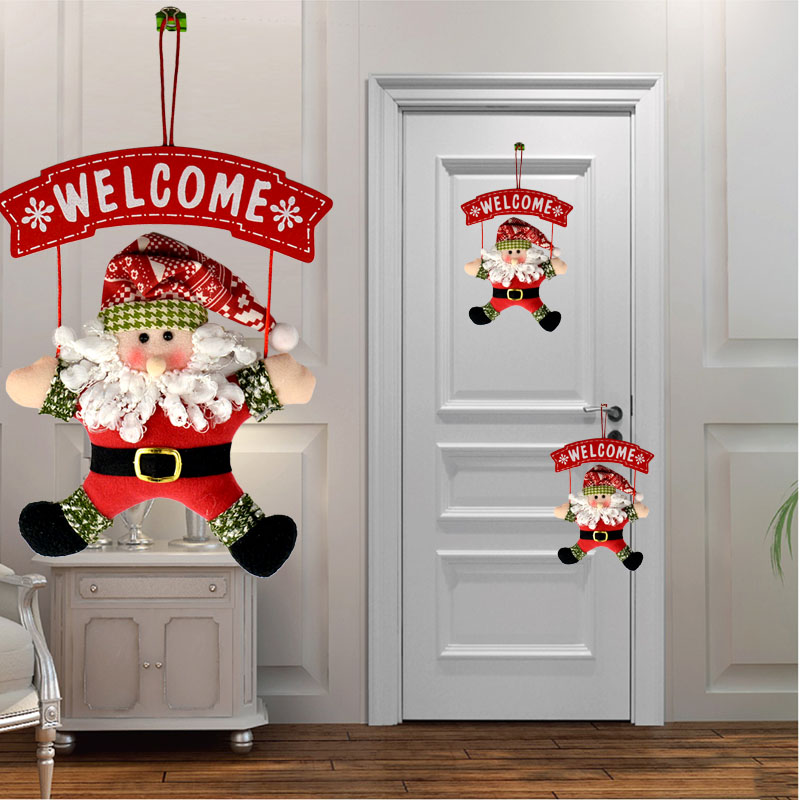 Cute Santa Claus Wall Tree Ornament Party Christmas Door Hanging Decor