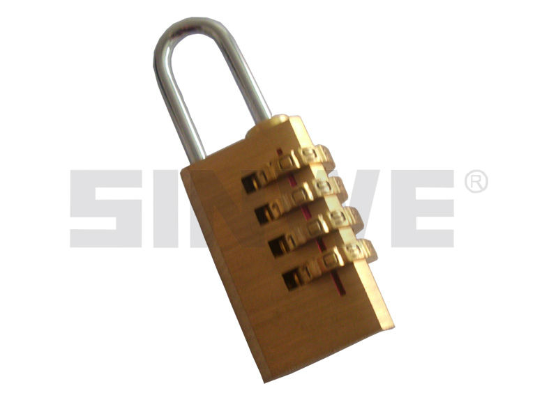 hot sold code combination brass padlock for luggage and bag
