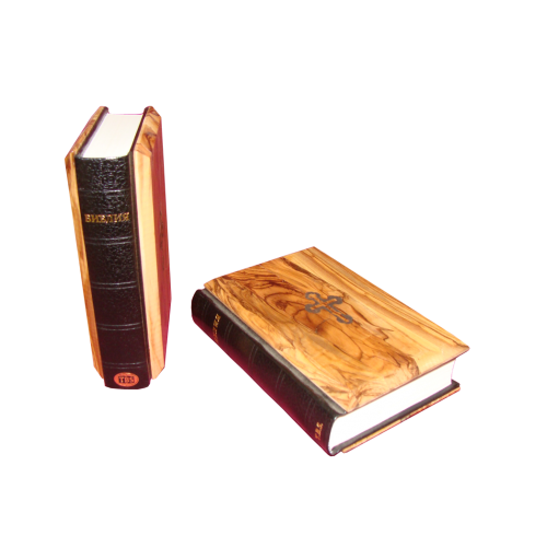 russian orthodox holy bible with olive wood cover