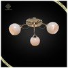 2016 Best Selling France Gold Plated Glass Shade Modern Ceiling Light,White Color Shade Ceiling Light