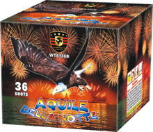Hot sell dazzling 36 shot fireworks cake for celebration