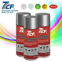 Multi-purpose 400ml Acrylic Shenzhen Rainbow Brand 7CF Cold zinc rich spray paint