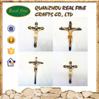 high quality Resin wood catholic crucifix