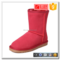 2016 letest design ladies winter shoes women warm snow half boots