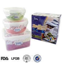 Clear microwave lock system food container plastic gift item