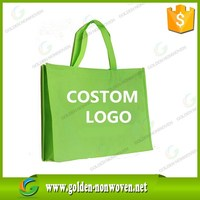 Hot selling good quality pp spunbond nonwoven fabric bag, apple green color non woven bag/shopping bag