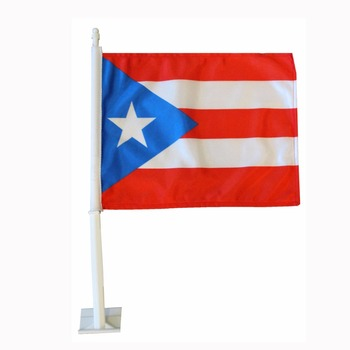 cheap custom car flag holder puerto rico car window flag
