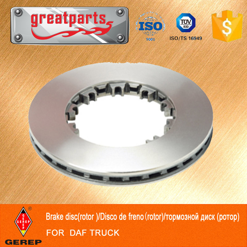 High quality truck disc brake plate for DAF ,Cheap price brake disc