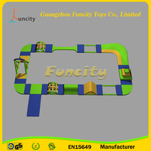 Hot selling 20m*11m inflatable water park , commercial water park project , aqua run inflatable for sale