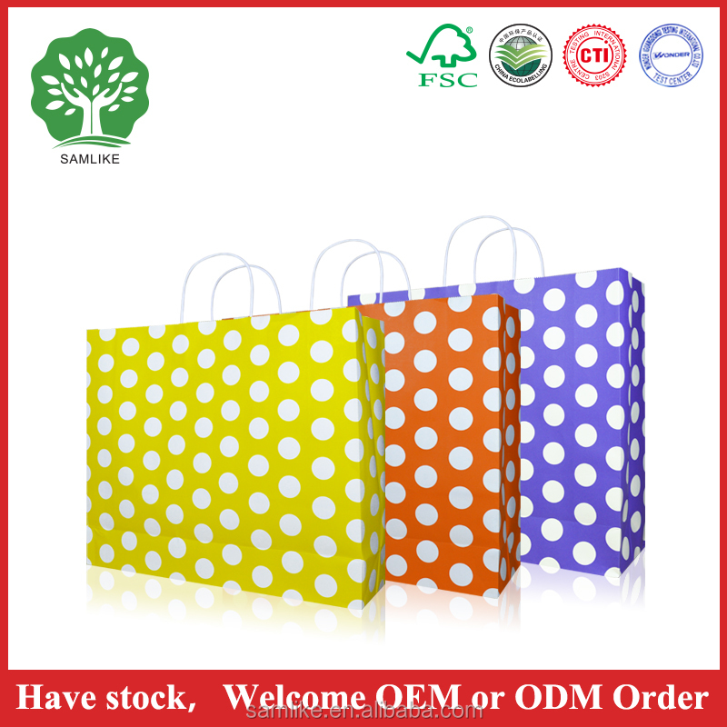 High Quality Eco-friendly Reusable Printed Paper Shopping Bags