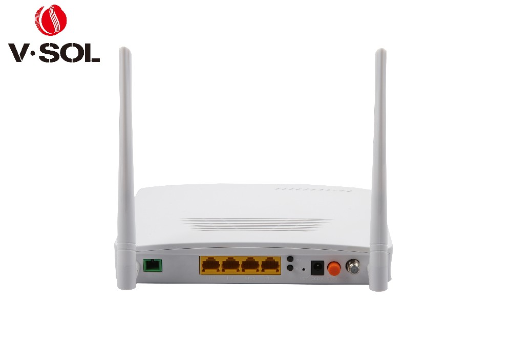 fiber optical network GPON ONT 4GE+WIFI+RF(CATV) 4pon compatible with huawei zte...olt