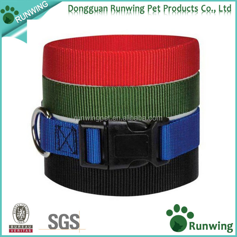 Dog adjustable collar with plastic buckles