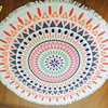 Microfiber Print Round Towel For Home