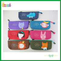 Encai Fashion Felt Cartoon Animal Pencil Pouch/Student Pencil Case/Promotional Gift Stationery Bag For Children