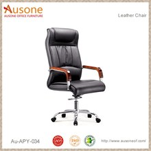 High back Black Leather Office Desk Chair