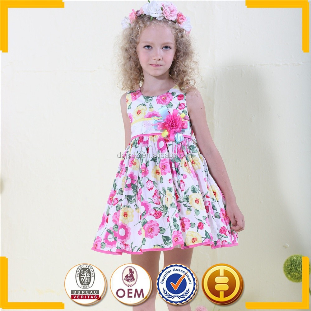 chinese kid clothing manufactures cotton girl fancy dress flowery formal dresses for kids