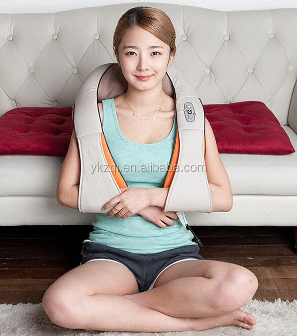 Home and Car Use vibrating infrared heat massage for neck and shoulder massage