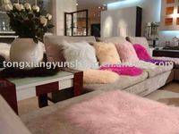 Mongolia Lamb Fur Cushion cover/ pillow case customized size and color and color