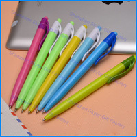Stationery Hotel Cheap Logo Plastic Promotional Gel Refill Ball Pen