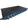 "1U 19"" ODF fiber optic 12 duplex port Fix patch panel with adapter"