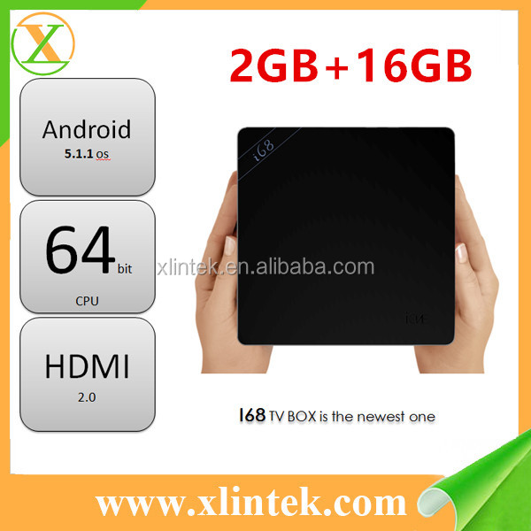 2017 Factory price OEM ODM tv box Android 5.1 i68 H.265 WiFi 4K Streaming Player Smart Internet TV Box i68