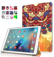 Universl printing tribe custom 3 folding pu leather flip case patterned tablet stand case for iPad Pro 9.7
