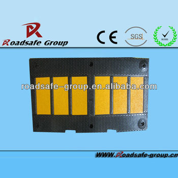 Recycled rubber speed bump/ high quality speed reducer/speed hump