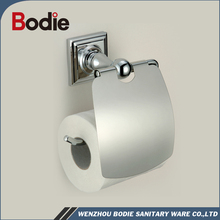 #Bodie Zinc Chrome Toilet Roll Holder Toilet Paper Holder With Cover 3706