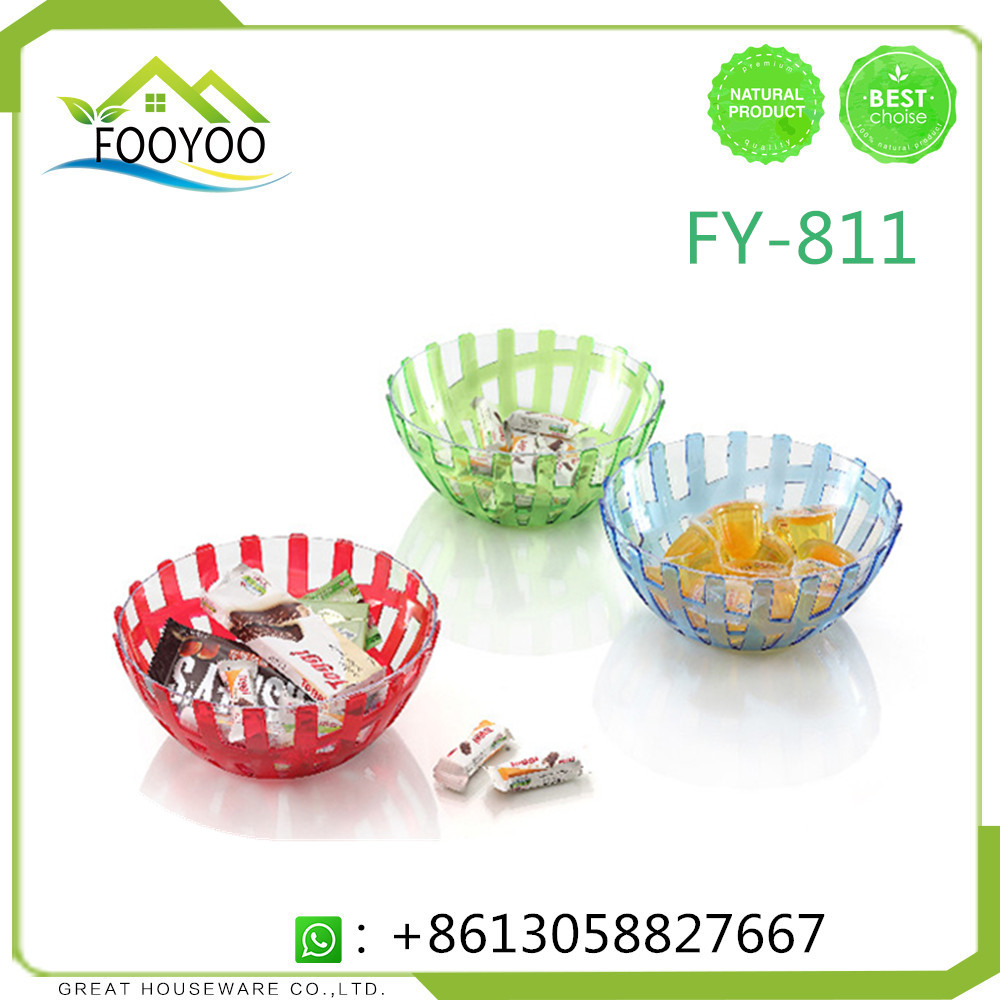 FOOYOO FY-811 FRUIT PLATE 2 TIER FRUIT PLATE PLASTIC FRUIT PLATE