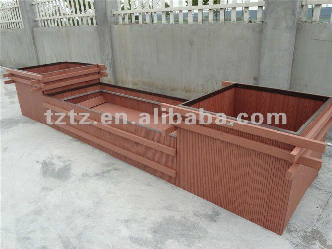 Green material Extruded plastic composite hollow decking board floor