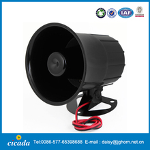 DC 12V 15W Replacing One Tone Car Security Alarm Siren Horn Black