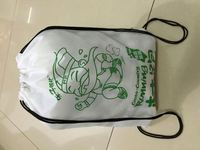 fashion AZO free 190tpolyester cute shape drawstring foldable shopping bag