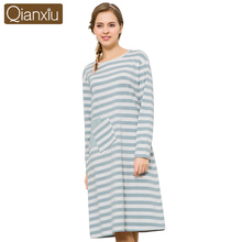 2017 China Qianxiu Wholesale Arabic Long Night Sleeping Dress