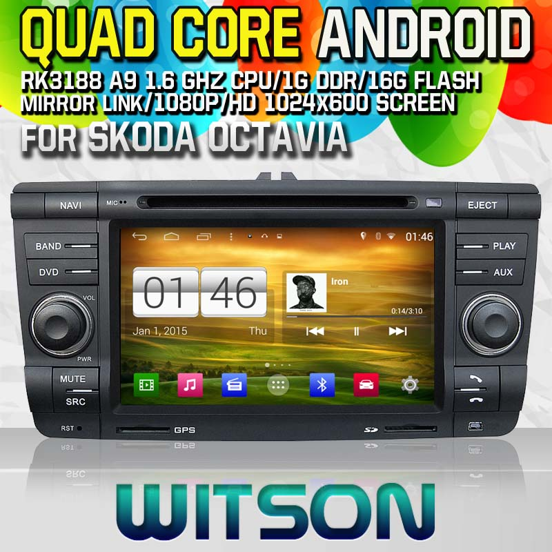 Witson S160 Android 4.4 Car DVD GPS For SKODA Octavia 2004-2011 with Quad Core Rockchip 3188 1080P 16g ROM WiFi 3G