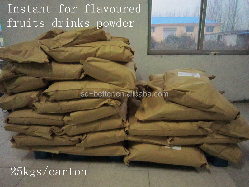 2016 hot sales from China factory processing 25kgs bulk in craft carton packing of instant pineapple juice drink