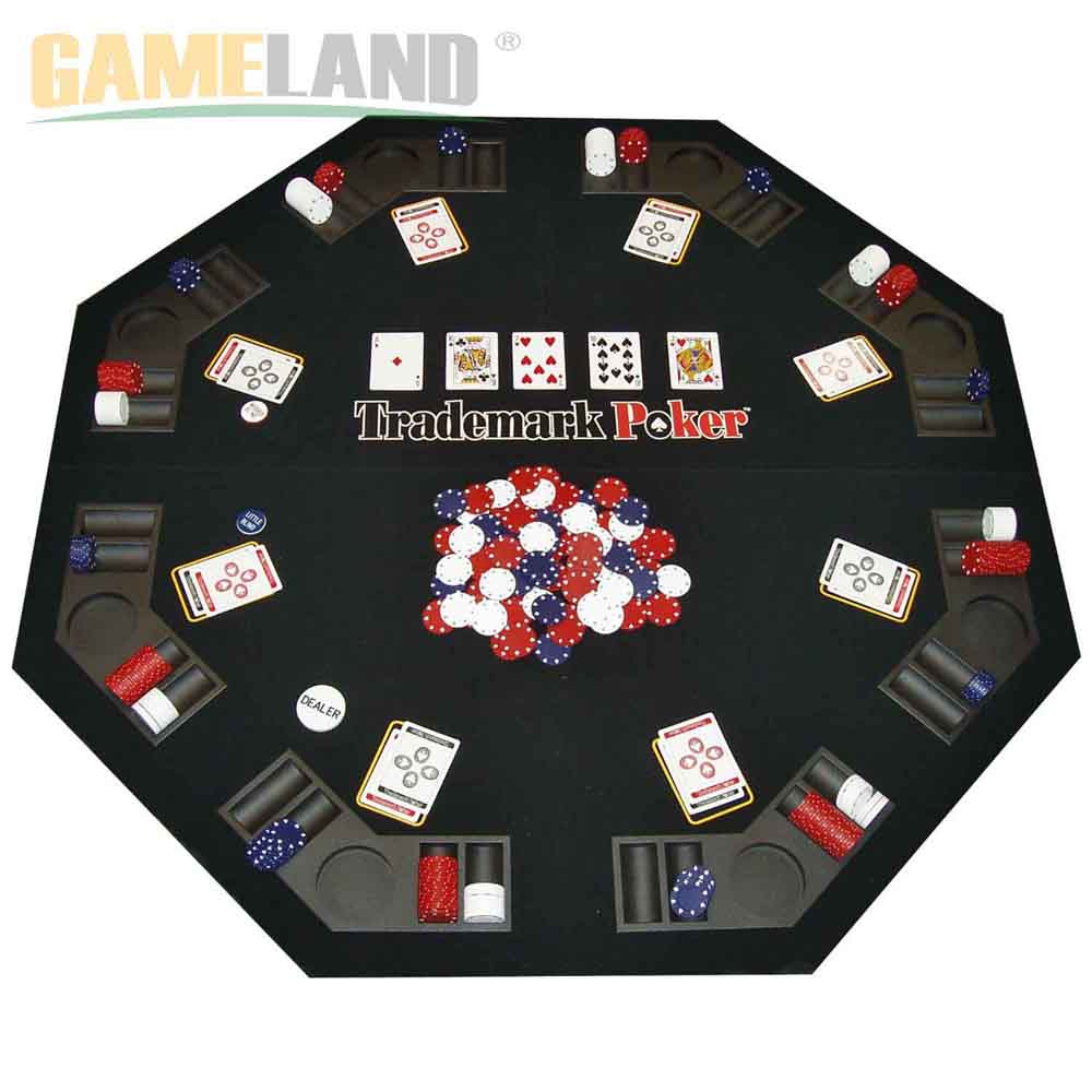 Poker Texas Traveller Table Top & Chip Travel Set For 8 Players