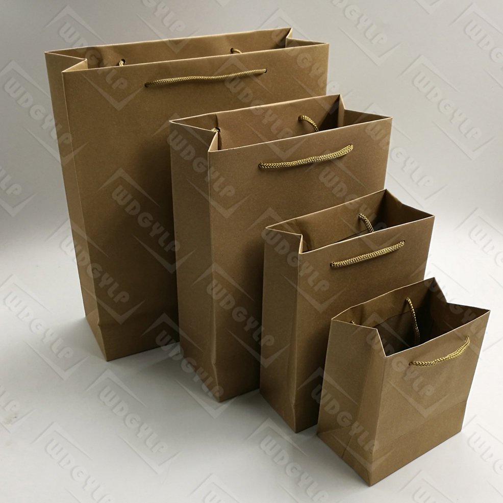 Shopping Brown Kraft Paper Bag with Handle
