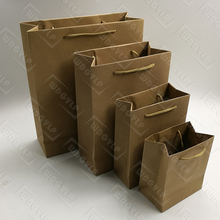 Shopping Brown Kraft Paper Bag con Maniglia