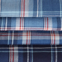 Twill Slub Plaid pattern Yarn Dyed Fabric