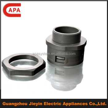 IP66 Waterproof Nylon/Plastic Flexible Hose Connectors with Locnut/Pipes Fittings