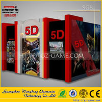 True attractive removable truck mobile 5d Cinema House and 5d theater equipment