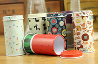 China factory hot sale CMYK printing customised metal round tall tin tea coffee packing box,coffee tin cans