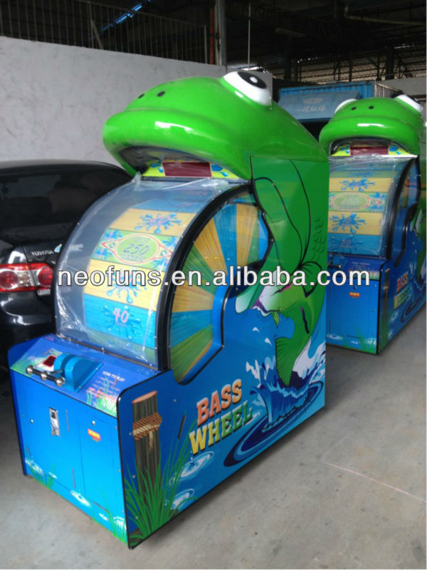 big lottery ticket bass wheel game machine