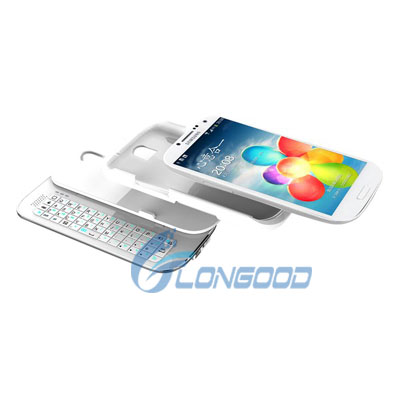 Hot New Sliding Wireless bluetooth keyboard case for Samsung S4