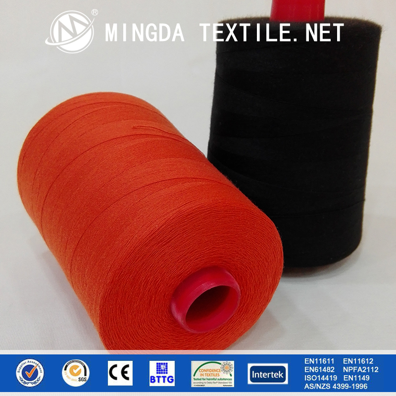20s/3 fire retardant meta aramid para aramid anti-static sewing thread for sewing firefighting suits and uniforms