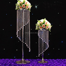 Elegant crystal wedding centerpieces flower stand for table decoration