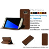 For Samsung Galaxy S7 Edge Case, For Samsung Galaxy S7 Edge Phone Case Leather Case, Dark Brown